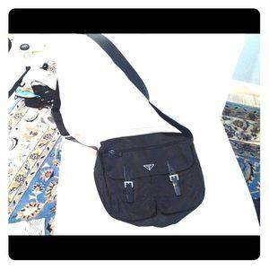 Prada Nylon Messenger Bag!
